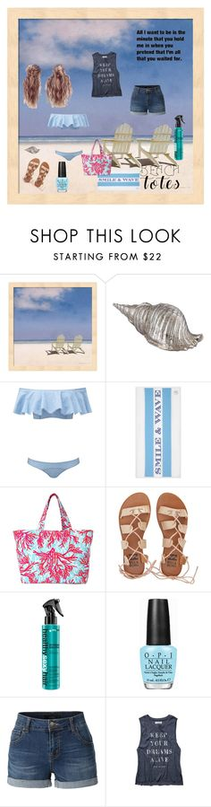 """Beach days"" by angel-in-waiting on Polyvore featuring Lisa Marie Fernandez, Draper James, Lilly Pulitzer, Billabong, OPI, LE3NO, Abercrombie & Fitch and beachtotes"
