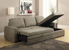 acme derwyn storage sleeper sectional sofa sleeper