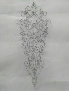 Rcham fatla Zardozi Embroidery, Embroidery Motifs, Hand Embroidery Designs, Beaded Embroidery, Machine Embroidery, Motif Design, Border Design, Art Deco Design, Free Stencils