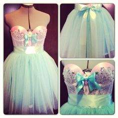 The French Sugar Dress 2 pc Bustier and Tutu by darkponydesigns, $240.00