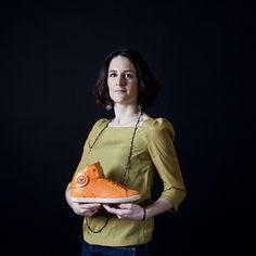 """BARONNE CHIARA, Son Choix La Barons Cuir Perforé Fluo Orange :  """"Barons Papillom, delle sneaker che mi danno le ali !"""""""