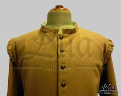 Jubón masculino siglo XVII, confeccionado en paño de lana color camel - Lúa Media Indumentaria Histórica. http://lua-media.tienda-online.com