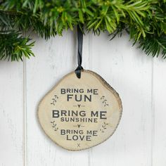 'bring me fun' wooden plaque by home & glory | notonthehighstreet.com