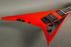 Jackson Custom Shop USA Custom Select Randy Rhoads RR1, Ferrari Red.  Includes Jackson hardshell case. New From Authorized Dealer.     Jackson USA Custom Shop Randy Rhoads Quartersawn Maple Neck-Through, Alder Body Wings Original Floyd Rose Bridge Ferrari Red Finish, Black Hardware 22 Jumbo Fre...