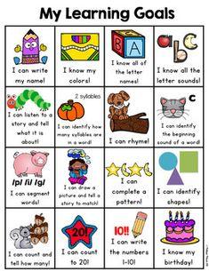 Pre-Kindergarten Goals Sheet by Melissa Moran Teachers Pay Teachers Pre K Curriculum, Homeschool Preschool Curriculum, Preschool Schedule, Preschool Lesson Plans, Preschool Learning Activities, Homeschooling, Toddler Learning, Writing Activities, Kindergarten Goal Sheet