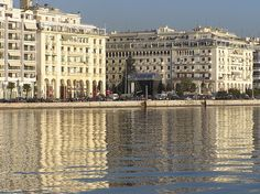 Thessaloniki waterfront - culture capital of Greece Beautiful Islands, Beautiful Places, Amazing Places, The Neighbor, Cultural Capital, Greece Travel, World Heritage Sites, Places To See, Macedonia Greece