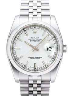 Rolex Oyster Datejust 36 116200 Weiß Jubile-Band