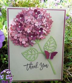 Ideas birthday card for mom hand made stampin up Flower Cards, Paper Flowers, Birthday Cards For Mom, Stamping Up Cards, Mothers Day Cards, Sympathy Cards, Cool Cards, Creative Cards, Homemade Cards