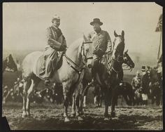 Historical Times: Kaiser Wilhelm II and former President Teddy Roosevelt at German military maneuvers, 1910