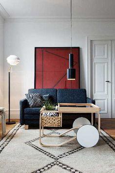 Skandinaavista muotoilua olohuoneen sisustuksessa. #etuovisisustus #olohuone #artek
