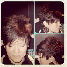 Alexis: hair by Danni Short Shaggy Haircuts, Cute Haircuts, Cute Hairstyles For Short Hair, Short Hair Styles, Short Hair With Layers, Short Hair Cuts For Women, Hair Addiction, Pixie Haircut, Great Hair