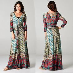 long boho dress - Google Search