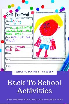 Back to school is a busy and exciting time that can set the tone for the year. Think of the first week as a transition time and a set up time. Use these first week of school activities to help students get used to being in the classroom and get to know everyone a little better.