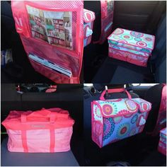 How do you control the car clutter?  Use Thirty-One's HANG-UP ACTIVITY ORGANIZER, FLIP TOP ORGANIZING BIN, DELUXE UTILITY TOTE with CINCH TOP LID, PACK N' PULL CADDY.