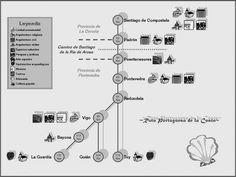 Santiago de Compostela: Traçado Caminho Português pela Costa