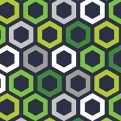 Hexagon print on dark navy from my Green With Envy Collection! #jackiemcfee #camelotfabrics