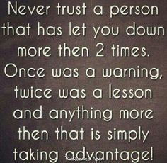 never trust a person