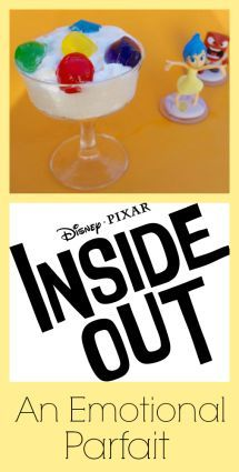 Adorable idea for making an Inside Out themed parfait!