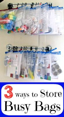 3 Ways to Store Busy Bags, Part of the 31 Days of Busy Bags & Quiet Time Activities @ AllOurDays.com