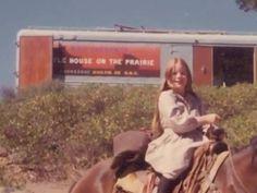 Melissa Gilbert on the set of Little House on the Prairie