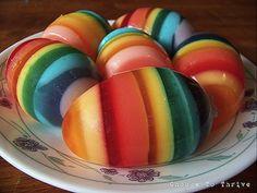 Ovos de gelatina para a Pascoa