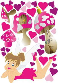 Wholesale Printers - smartwalling - Tinkerbell Wall Decal, $7.95 (http://www.wholesaleprinters.com.au/tinkerbell-wall-decal)