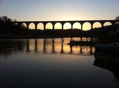 Calstock at dusk. A lovely train ride from St Germans along the Gunnislake line