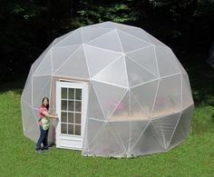 I wonder if this could be made cheaper?  20 ft Geodesic Dome Greenhouse Kit Custom Vinyl by SunriseDomes, $4499.00