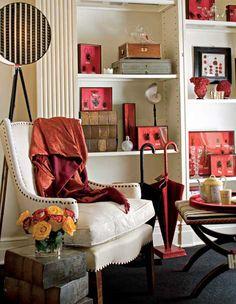 Designer Alessandra Branca's reception area in her studio.