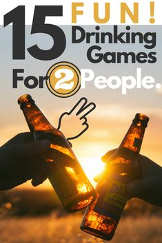 These 15 drinking games for 2 players are super fun, and offer a variety of options. Sometimes, you just want to play drinking games. Either with a friend or as a couple. These drinking games for 2 people will make for a great night in! Two People Drinking Games, Two Player Drinking Games, Friends Drinking Game, Drinking Games For Couples, Easy Drinking Games, Games For Two People, Drinking Games For Parties, Drunk Games, Beer Games
