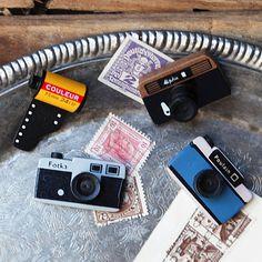 Camera fridge magnets