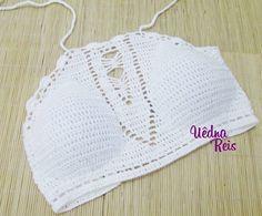 Cropped Branco Crochê e cia: encomende pelo instagram @croche_insta ou whats (75) 98129-4533