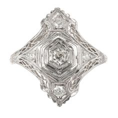 Finest online antique jewelry store specialized in vintage engagement rings, estate diamond jewelry with a range from designer Victorian & Art Deco Sapphire periods. Visit us now! Victorian Jewelry, Antique Jewelry, Vintage Jewelry, Antique Art, Antique Rings, Vintage Brooches, Platinum Diamond Rings, Diamond Cuts, Diamond Shapes