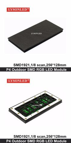 2017 Newest HD P4 Outdoor SMD1921 Full Color LED Display Module 256x128mm ,1/8 Scan 64x32 Pixels RGB P4 LED Module Outdoor