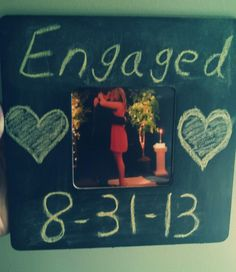 Chalkboard picture frame... update with each new phase of life!