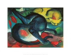 Franz Marc, two cats
