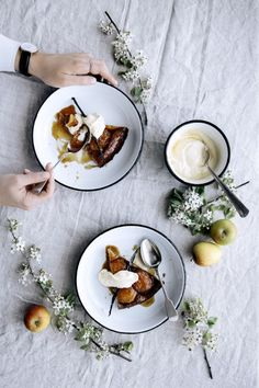Spelt and Maple Apple Tart Tartin from Falcon Enamelware