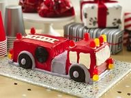 Fire Engine Cake - if i could, i would make this and send it to you @Emily Schoenfeld Schoenfeld Tester