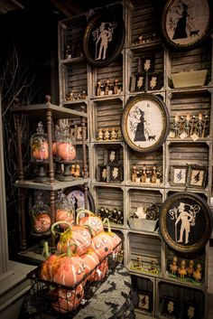 Halloween silhouettes I love that wall! I'm planning to open my Witchcraft shop and that wall is great!