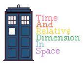 Doctor Who TARDIS Cross Stitch Pattern (PDF)