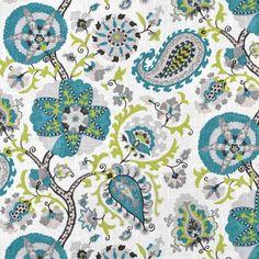 P. Kaufmann Ladbroke/Cir Peacock Fabric