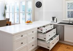 Build the kitchen of your dreams with help from one of Melbourne's most talented design houses. Speak to Ultimate Kitchens & Bathrooms today. Kitchen Cupboards, Kitchen Reno, New Kitchen, Kitchen Design, Kitchen Ideas, French Provincial Kitchen, Bathroom Renovations, Bathrooms, Cupboard Storage