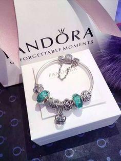 50% OFF!!! $219 Pandora Charm Bracelet Green. Hot Sale!!! SKU: CB01954 - PANDORA Bracelet Ideas