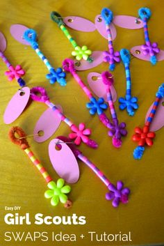 Easy DIY Girl Scouts SWAPS Idea + Tutorial- Mommy Snippets