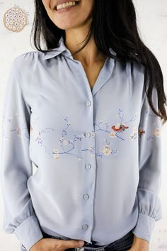 82b0558847d30 50 Best vintage blouses images in 2019