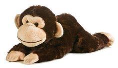 Plush Chimp monkey soft brown stuffed animal gift toy teddy big cute durable new #AuroraPlush