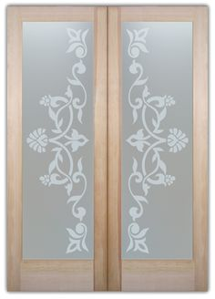Lydia Victorian Decor Interior Etched Glass Doors Huge price range - etched glass doors in any decor! Asian or Contemporary to Mediterranean & Traditional! - May 11 2019 at Wooden Glass Door, Etched Glass Door, Glass Front Door, Sliding Glass Door, Glass Doors, Frosted Glass Interior Doors, Frosted Glass Door, Temple Glass, Glass Etching Designs