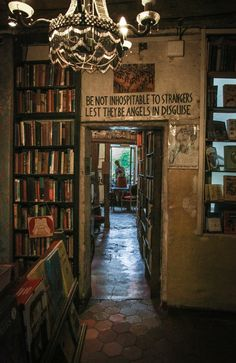 Be Not Inhospitable To Strangers                  Lest They Be Angles In Disguise                  Shakespeare & Company Paris                     Photo: Dieter Krehbiel