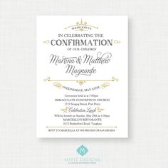 Printable Baptism Invitation- Unisex Baptism Invitation - Baby Dedication, First Communion, Confirmation, Christening - Printable invitation by MsfitDesigns on Etsy