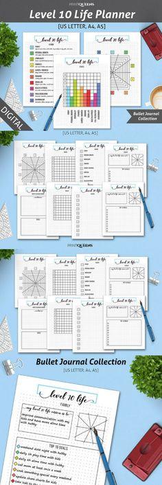 Printable Planner Kit 2018 Calendar, Planner Kit, Fitness Planner